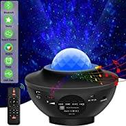 Night Light Baby Star Projector, 10 Color Bluetooth night Lamp with Timer Remote and Chargeable, Dimmable Combinations Roman