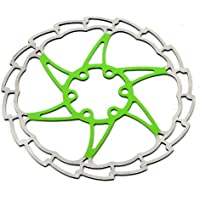 MSC Bikes MSC Ult. Steel 160 mm. 1.8 mm - Disco de freno de ciclismo, color verde anodizado