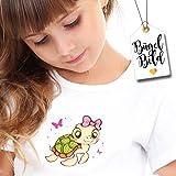 Bügelbild Chillkrötchen farbige Schildkröte von Wandtattoo-Loft® / Applikation zum selbst Aufbügeln / Farbig / Patches / T-Shirt Aufbügler