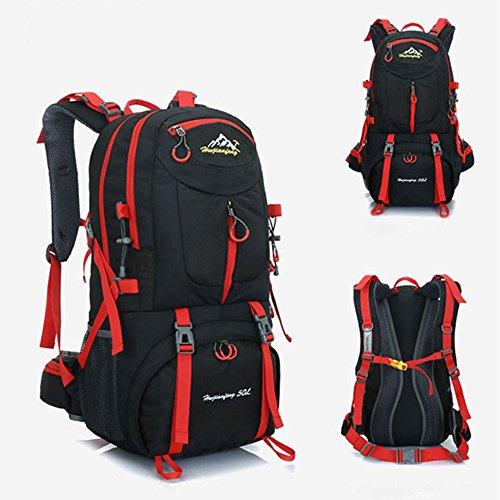 Imagen de  de 50 litros, ideal para deportes al aire libre, senderismo, trekking, camping travel, escalada. bolso impermeable del alpinismo, daypacks que suben del recorrido, , . negro