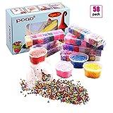 58 Pcs Slime Kit incluyen bolas pecera, Bolas espuma, Glitter, confeti, Contenedores almacenamiento, Herramientas lodo para el arte del bricolaje Slime hecho en casa(No contiene limo)