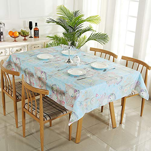 HCBR Kleine frische wasserdichte und staubdichte tischdecke Rand einfache und schmutzige Home Dining tischdecke Mode tischdecke E 140 * 220 cm