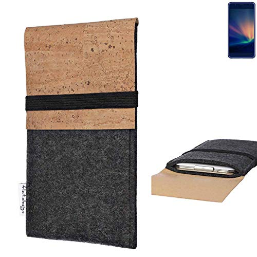 flat.design Handy Hülle SAGRES für Hisense A2 Pro Made in Germany Handytasche Filz Tasche Schutz Case fair Kork