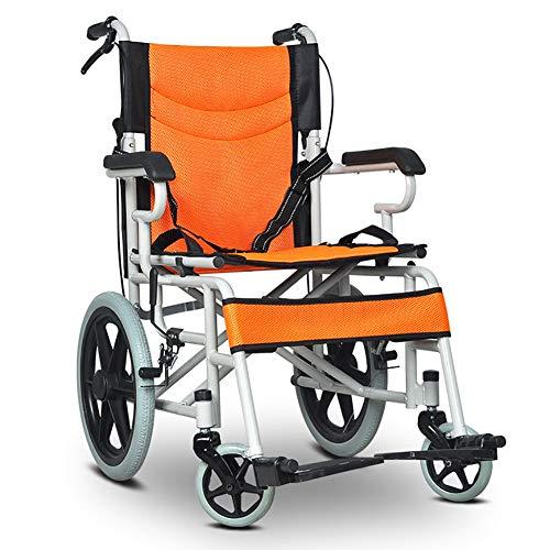 ZXCASD Klappbarer Rollstuhl Für Personen Mit Körperlichen Beeinträchtigungen Und Ältere Menschen Reiserollstuhl Leichtes Gewicht Design Vollgummiräder