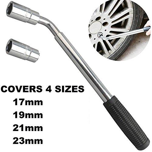extensible Pneu de roue Clé dynamométrique Lug clés mixtes 17mm 19mm 21mm 23mm Handheld télescopique outils de réparation Clé à écrou pour douille pour voitures van camions