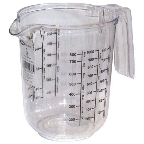 Metaltex 242708 Messbecher, 1,0 L, transparent