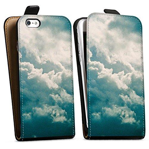 Apple iPhone X Silikon Hülle Case Schutzhülle Wolken Himmel Natur Downflip Tasche schwarz