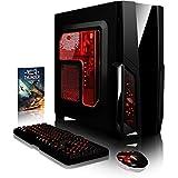 VIBOX Pyro SA10-161 Gaming PC - 4,0GHz AMD A10 Quad-Core CPU, Ordenador de sobremesa para oficina Gaming vale de juego, con unidad central, Iluminaciàninterna rojo (3,6GHz (4,0GHz Turbo) Procesador Quad 4-Core AMD A10 7860K, 4 GB Memoria RAM de DDR3, velocidad de RAM: 1600MHz, 1TB(1000GB)SataIII7200 rpmdiscoduroHDD, Fuente de alimentaciàn de 85 +PSU 400W, CIT de Storm cajaRojo, DVD-RW, Ningún sistema operativo)