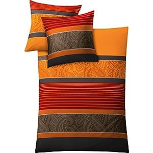 Bettwäsche 155220 Baumwolle Orange Deine Wohnideende