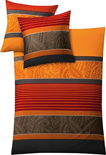 Kleine Wolke 6162334952 - Juego de funda nórdica, 135 x 200cm, color rojo y naranja