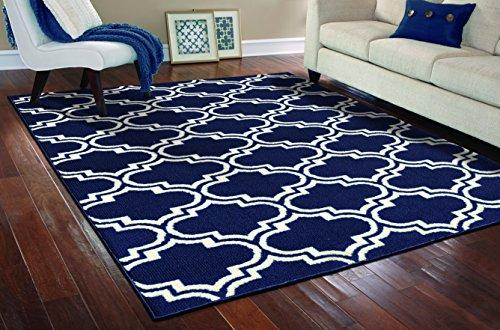 Girlande Teppich Silhouette Bereich Teppich, Polypropylen, Indigo/Ivory, 8-Feet by 10-Feet - 10ft Teppich