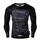 Fringoo® Mens Compression Superhero Top Base Layer Gym Long Sleeve Running Thermal Sweatshirt