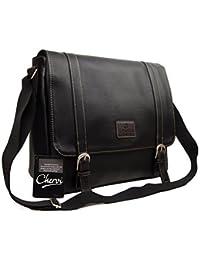 High Quality Mens Womens Faux Leather Messenger Satchel Business Work  College Shoulder Bag 01fc82288dc16