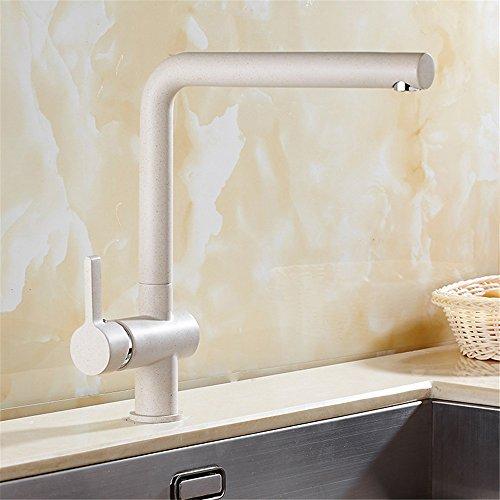 Bijjaladeva Wasserhahn Bad Wasserfall Mischbatterie WaschbeckenKüche Wasserhahn Sandstrahlen Lackieren Drehung von 360 Grad Voll Kupfer Haferflocken Farbe Waschbecken Kaltes Wasse -