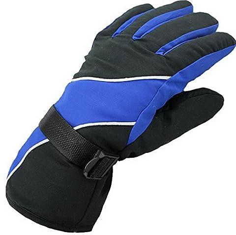 Gants de ski, imperméables thermiques Ski Gants d'hiver Snowboard Motoneige Cyclisme Moto Sports de plein air Gants-Hommes