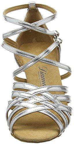 Diamant Diamant Latein Damen Tanzschuhe – Standard Latein Silber 108-087-013 - 4