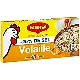 Maggi - Bouillon de Volaille Réduit en sel de -25% - Le paquet de 12 cubes - Prix Unitaire - Livraison Gratuit...