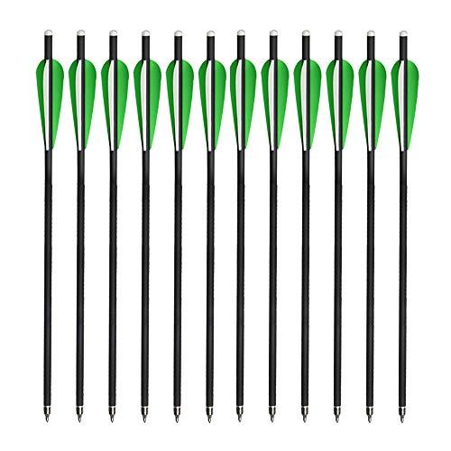 Milaem Carbon Armbrustpfeile,16Zoll Bolzen für Armbrust bis 100 lbs,12 Stücke