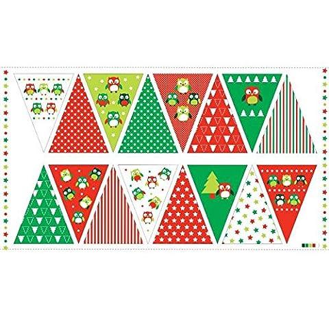 Weihnachten Stoff Eulen, Weihnachten Wimpelkette Panel Kit–nu063–Panel ist 60cm x