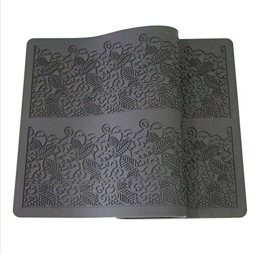 20x 40cm Fondant-Form, Kuchenmatte, Backmatte aus Silikon, für Zuckerguss und Glasur, Backhelfer zur Kuchendekoration
