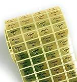 500 Etiquetas adhesivas doradas Chapado Oro para joyería