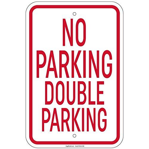 impreqaa no doppio segnale di parcheggio 30,5x 40,6cm alluminio segni negozio al (Parcheggio Negozio)