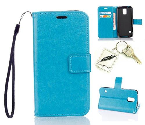 Preisvergleich Produktbild Silikonsoftshell PU Hülle für Samsung Galaxy S5 (5,1 Zoll) Tasche Schutz Hülle Case Cover Etui Strass Schutz schutzhülle Bumper Schale Silicone case+Exquisite key chain X1#KA (5)