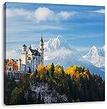 Schloss Neuschwanstein im Herbst, Format: 40x40 auf