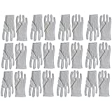 7dayshop White 100% White Gloves for Photo Film and Negative Handling, Vinyl Records, Stamps and Valuables - Set of 12 Pairs