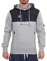 Neue Mens Smith & Jones Marke gedruckt Pullover Hoodie Melange Sweatshirt Kapuze Top