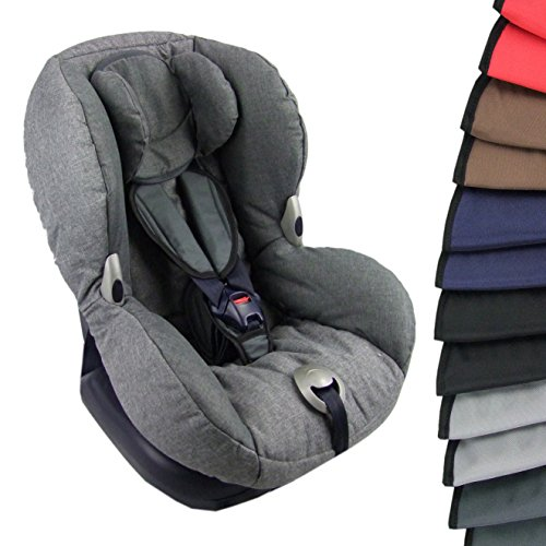BAMBINIWELT BAMBINIWELT Gurtpolster Schrittpolster für Autositz, Kinder, universal, GRUPPE 1 (dunkelgrau)