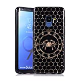 Coque pour Samsung S9, E-Lush Etui Housse Silicone TPU + Case Rigide PC Case Cover Ultra Mince Constellation Motif Antichoc Protection pour Samsung Galaxy S9 - Cancer