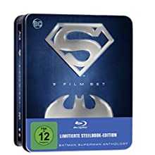 Batman Superman Anthology – 9 Film Set (limitierte Tin-Box Edition) (exklusiv bei Amazon.de) [Blu-ray] [Limited Edition]
