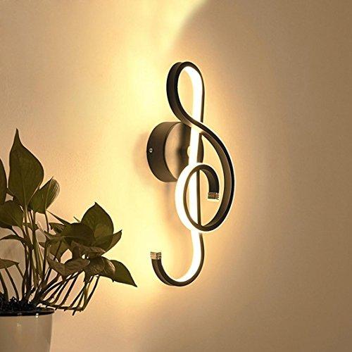 LED Modern Design Musik Symbole Wandleuchte Kinderlampe Innen Wandlampe Dimmbar Wandbeleuchtung Nachtlampe Creative Metall Dekorative für Wohnzimmer Nachttischlampe Treppenlichter Flurlampe 22W 3000K