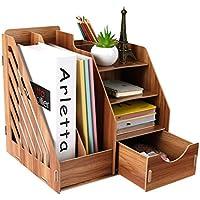 Estantería - Material de Oficina Escritorio Caja de Almacenamiento Tabla Creativa Estantería de Madera Cajón Carpeta Estante (Color : A)