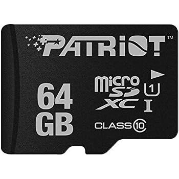 Patriot Memory 64GB microSDXC Memoria Flash Clase 10 - Tarjeta de ...