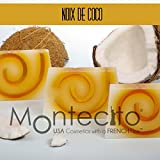 Seifenstück, handwerkliche 80g–Kokosnuss–Seife mit Olivenöl und Mandelöl Weich