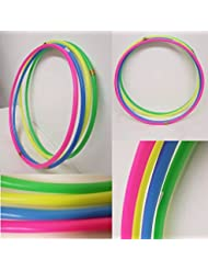 FLICKBUYS® Plain Primary Colour Kids Small Hula Hoops 4x450mm Sporting Good Fitness Hula Hoops