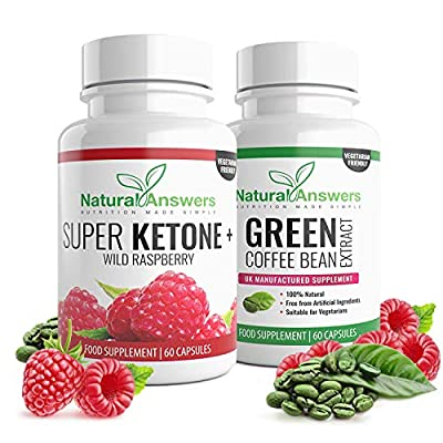 NEW Raspberry Extract & Green Coffee Bean – 1-month Supply – Weight Management Supplement for Men and Women by Natural Answers from Natural Answers