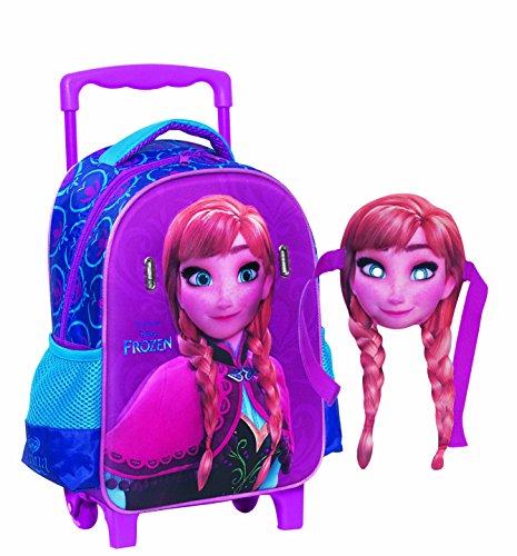misterpeluche-it Frozen -Anna- Disney MOCHILLA Infantil con Carro Y LA MÁSCARA Amovible 338-17072