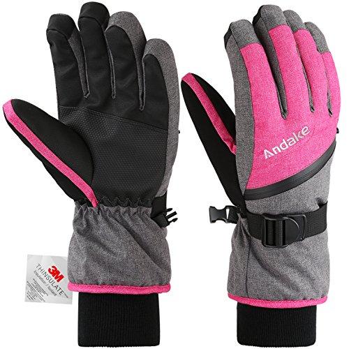 Andake Ski Gloves for Women, 3M ...