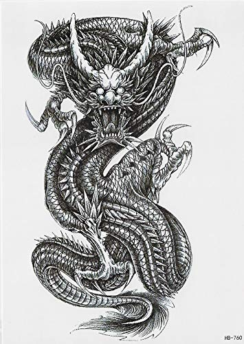 Tribal Drache Schlange Einmal Tattoos Temporary Temporäre Tattoo Body Sticker