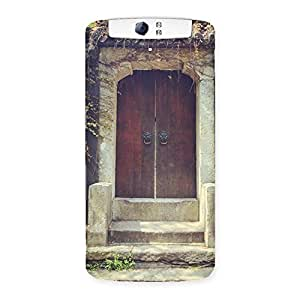 Neo World Stairs To Door Back Case Cover for Oppo N1