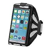 kwmobile Bracelet de sport pour Smartphones - jogging footing sac de sport bracelet de fitness en blanc - p.e. compatible avec Samsung, Apple