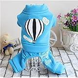 WYXIN Abbigliamento per animali da compagnia Teddy Dog Autunno e Inverno Stampa Palloncini Abbigliamento sportivo , sky blue , xs