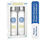 The Moms Co. Natural Protein Hair Detox Kit for Dry and Damaged Hair, Hair Fall with Protein Shampoo (200ml) and Conditioner (200ml)