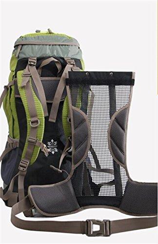 Borsa arrampicata all'aperto grande capacità di uomini e donne borsa da viaggio borsa a tracolla 60L ( Colore : Verde , dimensioni : 60l ) Blu