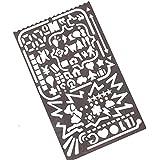 wicemoon dibujo regla regla de pintura plantillas multifuncional metal modelos hueca Multi–propósito regla plantilla