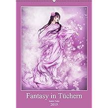 Fantasy in Tüchern (Wandkalender 2019 DIN A2 hoch): In bunten Tüchern fantasievoll durch das Jahr. (Monatskalender, 14 Seiten) (CALVENDO Kunst)