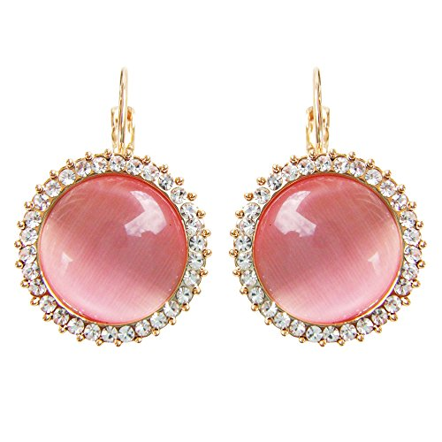 Navachi  -    Basismetall, vergoldet mit 18 kt Rundschliff   pink/rosa Opale  (Damen-verlobungsring Rosa)